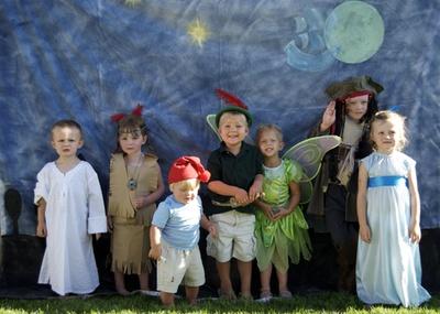 peter pan party!Children Parties, Peter Pan Party, Pan Parties, Halloween Costumes, Birthday Parties, Parties Ideas, Group Photos, Halloweenpurim Costumes, Costumes Ideas