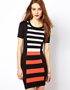 French Connection Striped Bodycon Dress #WinSupergaWithRitaOra