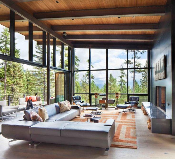 Moderne maison rustique à l'architecture et agencement créatif au Montana – Vivons Maison