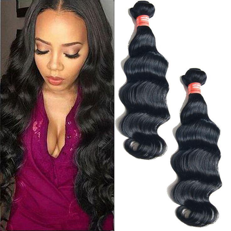 "150g 10""-22"" Deep Wave Real Human Hair Extension 1b# Virgin Hair Weft 7A #Unbranded"