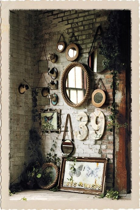 The best vintage mirrors. Get inspired, always in an industrial style. See more excellent decor tips here:http://www.pinterest.com/vintageinstyle/