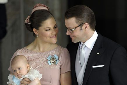 Princess Victoria and Prince Daniel beamed with pride during the joyous ceremony