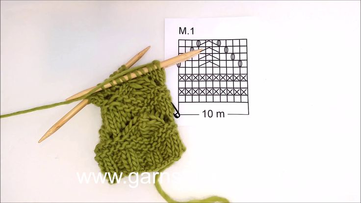 DROPS Knitting Tutorial: How to work chart in DROPS 105-41