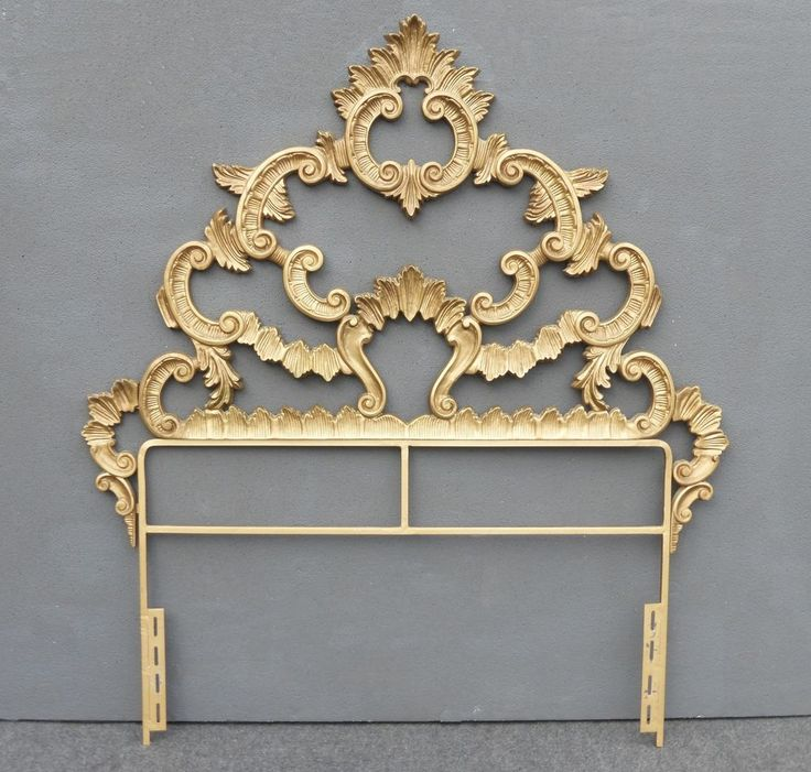 Vintage French Provincial Ornate Rococo Baroque Gold Cast
