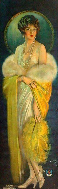 Selz Good Shoes lady, c 1920, Howard Chandler Christy