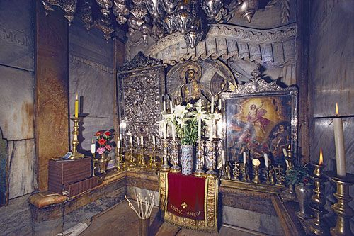 Chapel of the Holy Sepulchre, Jerusalem, Israel 31st great grandfather Fulk King of Jerusalem laid to rest here