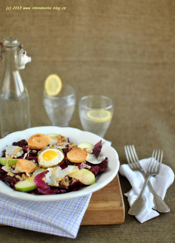 9 best cuisine eastern european food images on pinterest cooking radicchio salad with apples nuts and quail egg from a czech food blog forumfinder Images