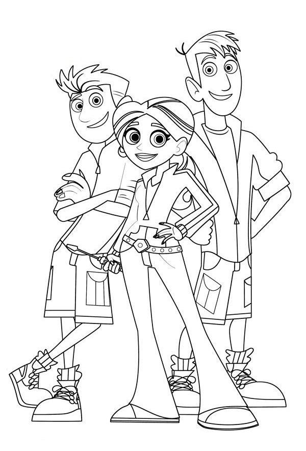 wild kratts coloring pages free printable - Coloring Pages For Paint Program