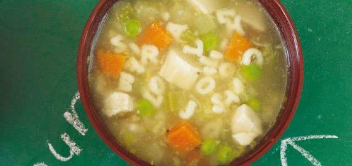 Soupe alphabet au poulet Recettes | Ricardo