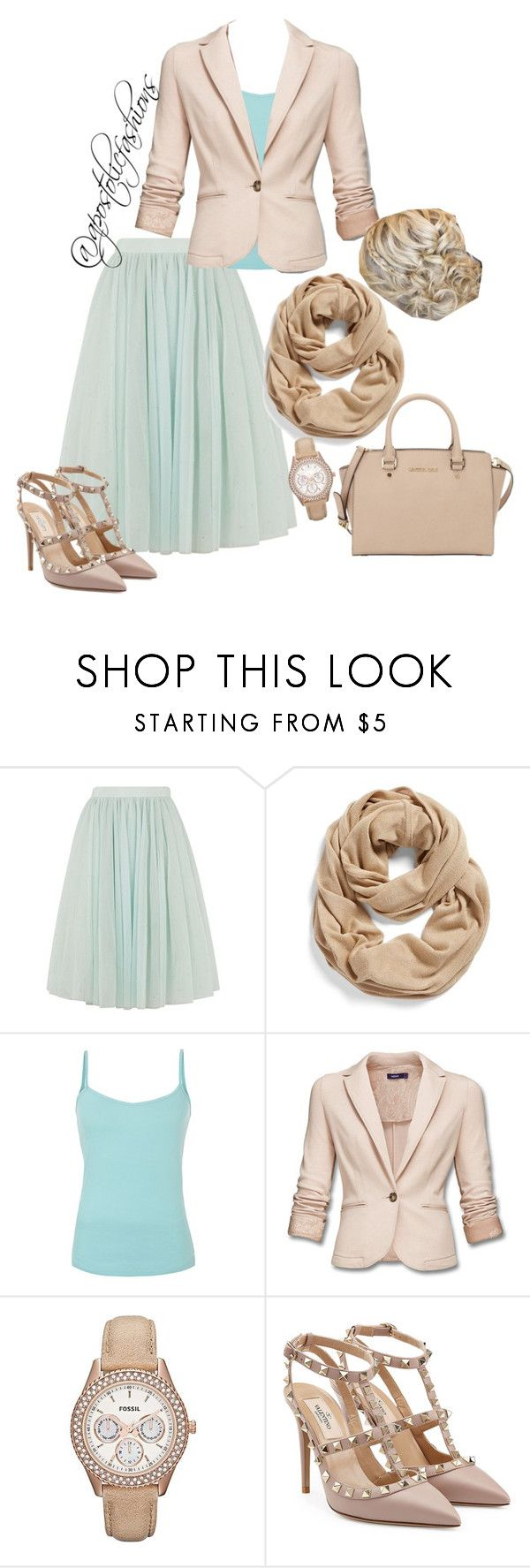"""Apostolic Fashions #919"" by apostolicfashions on Polyvore featuring Ted Baker, Halogen, FOSSIL, Valentino and MICHAEL Michael Kors"
