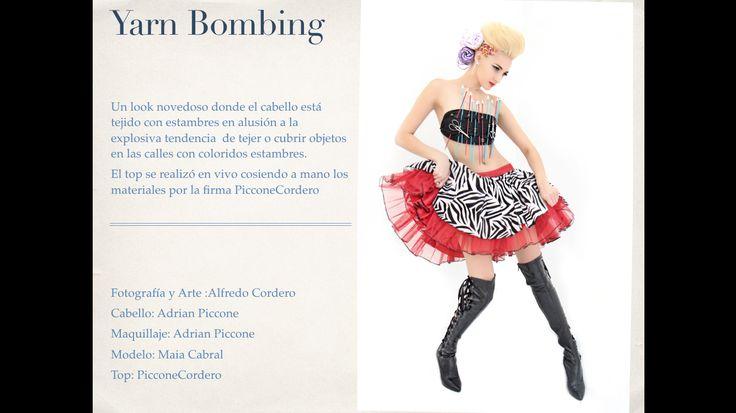 Técnicas de #YarnBombing en look editorial, con #Styling de #AdriánPiccone #Arte y #Concepto #AlfredoCordero #Modelo #MaiaCabral #Estambres y #Agujas de #EstambresAngelique