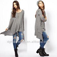knitted Irregular hem long sleeve ladies new design t shirt best seller follow this link http://shopingayo.space