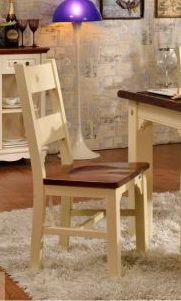 Стул Каркас, ножки - деревянный массив, МДФ (Е1), покрытие спинки, каркаса, ножек - акриловая краска молочного цвета, покрытие сиденья - лак