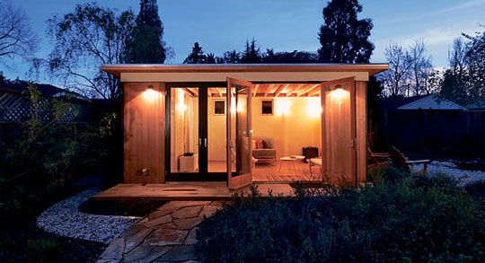 "I would love to have one of these ""modern sheds"" in my backyard. Very cool!"