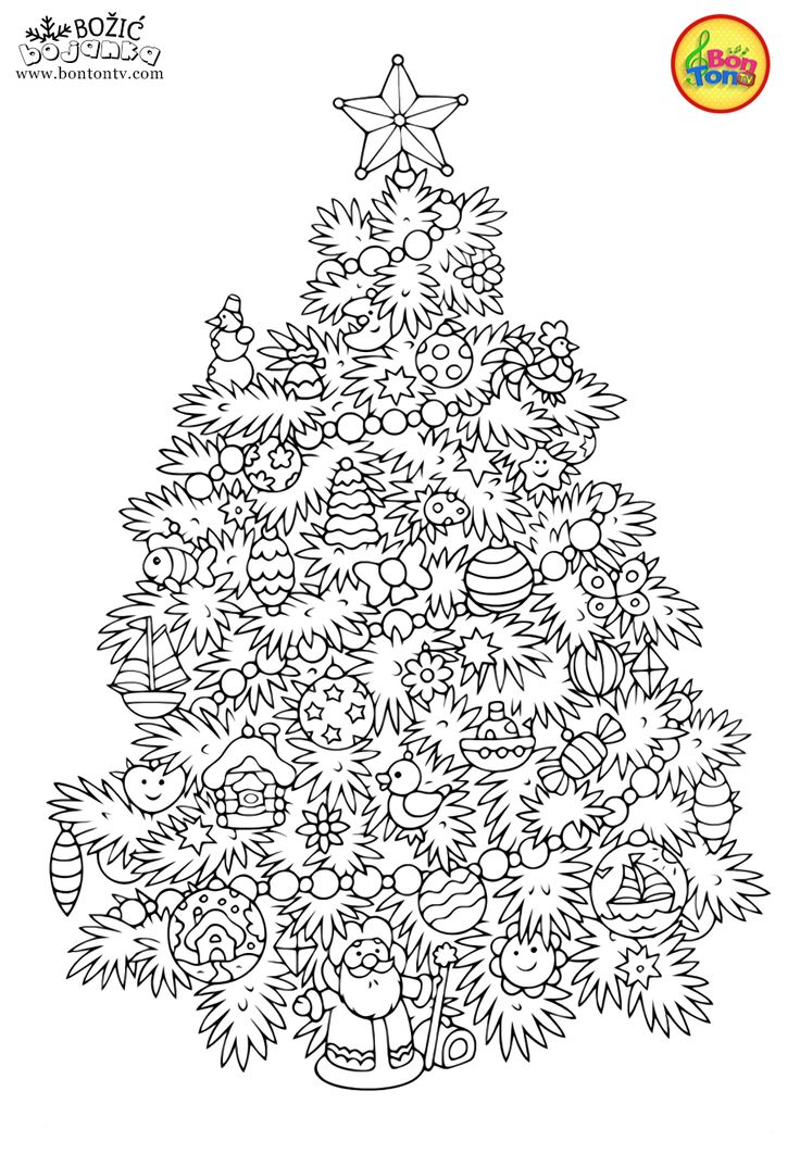 Malvorlagen Weihnachten für Kinder - Kostenlos bedruckbare
