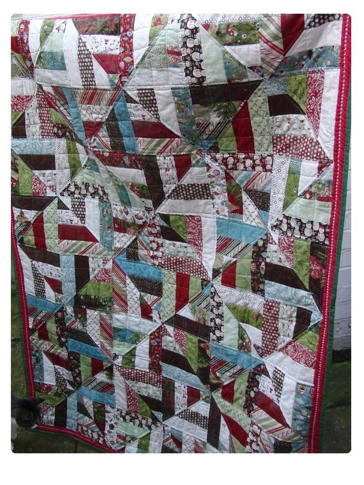 Christmas strip quilt