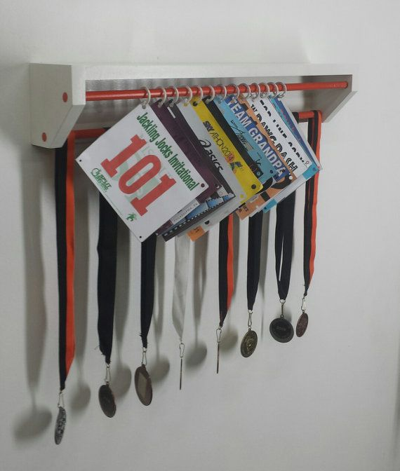 Trendy Running display for race bibs and by TrendyDisplay on Etsy