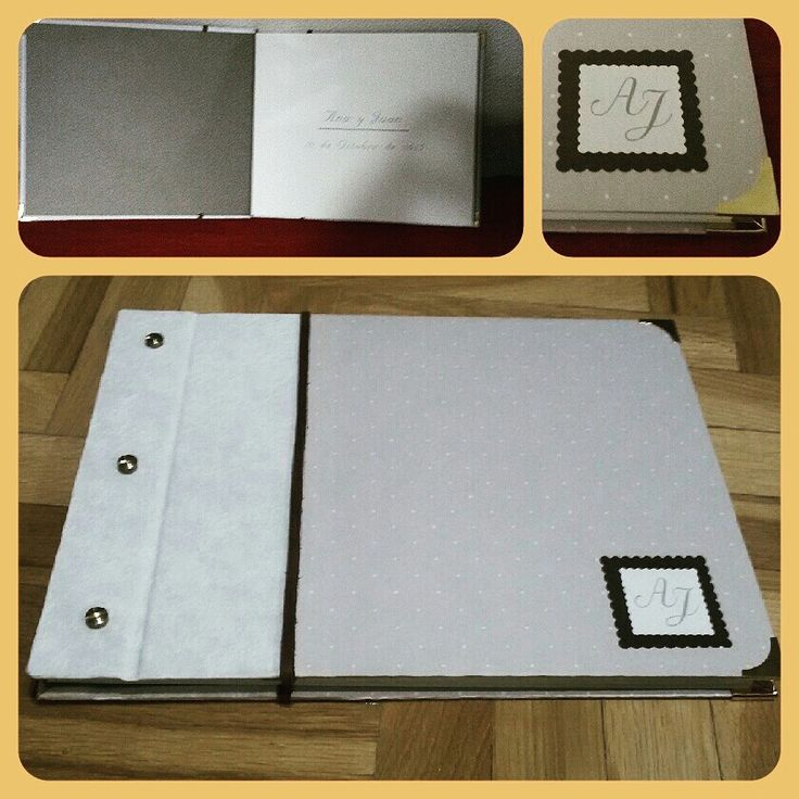 Libro de firmas personalizado para bodas.