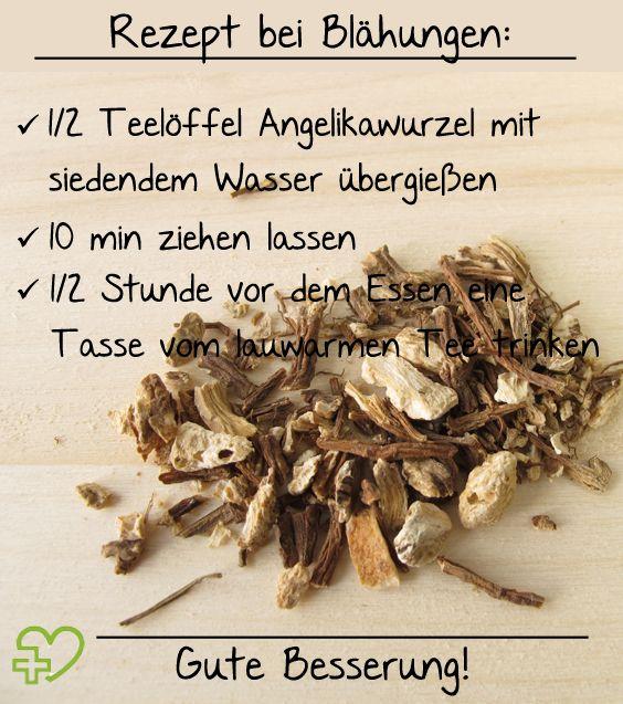 Rezept für einen Angelikawurzel-Tee gegen Blähungen. (Bildquelle: istock)