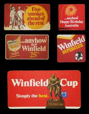 Winfield Coasters - Paul Hogan & Sports  We've added some great new Winfield Coasters. Very collectable and hard to find in this condition! Be quick with these!    Check out our Winfield Coasters and Collectables: http://stores.ebay.com.au/mAntique-Australia     #winfield #coaster #paulhogan
