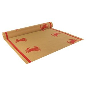"40"" x 300' Paper Roll Table Cover with Crab Pattern: so cute for a crab boil party!"