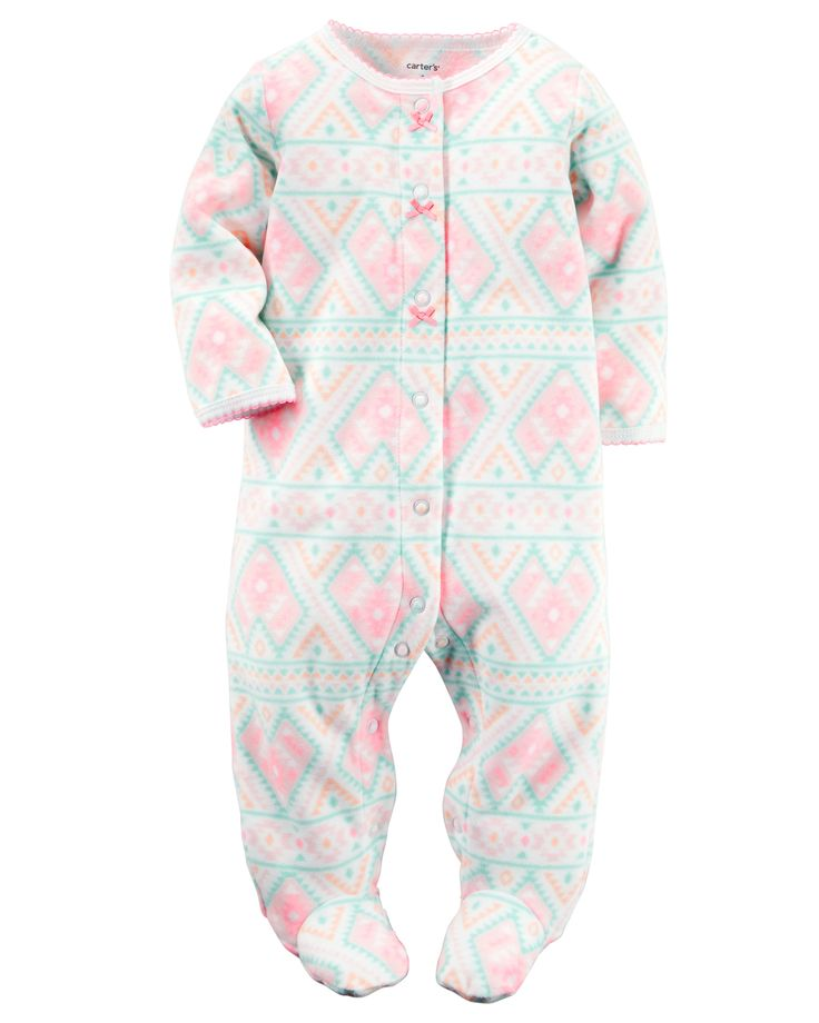 Baby Girl Fleece Snap-Up Sleep & Play | Carters.com