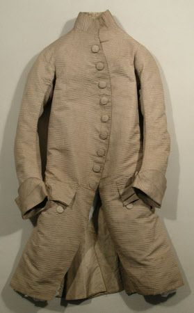 Coat National Trust Inventory Number 1348779 Date1760 - 1770 MaterialsLinen, Silk, Silk twill, Steel CollectionSnowshill Wade Costume Collection, Gloucestershire (Accredited Museum)