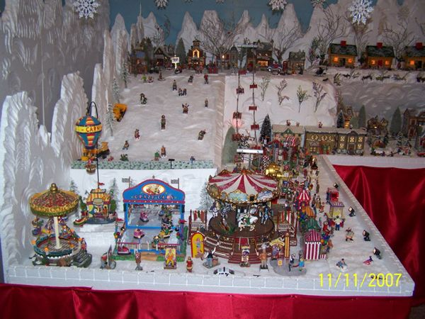 large christmas village church