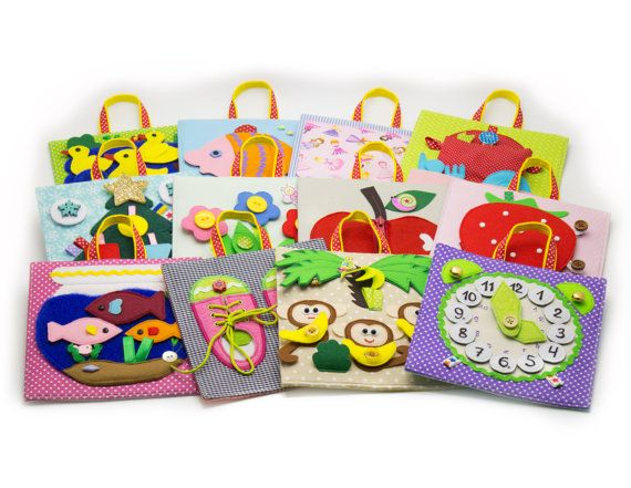 A big developing Baby toy set of quiet tablets 12m by MiniMoms