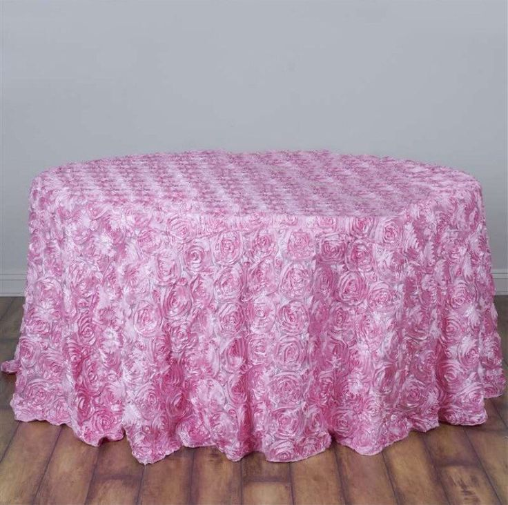 Baby shower tablecloth, HUGE SALE! Pink satin ribbon rosette tablecloth, table runner, table overlay, wedding tablecloth, diff colors avail by FantasyFabricDesigns on Etsy