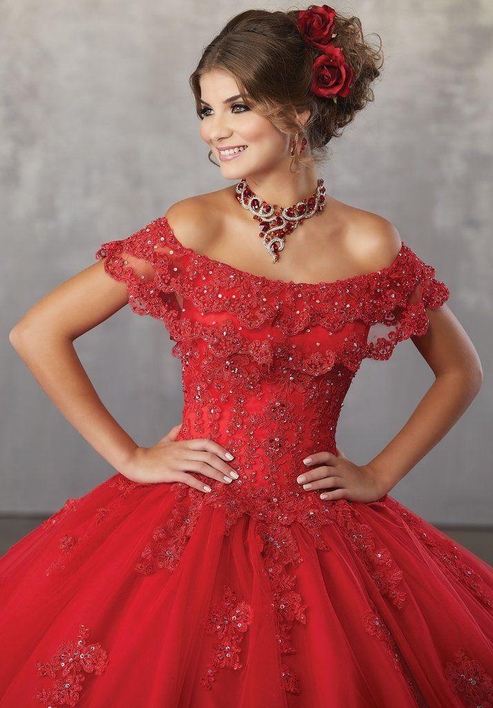 03709782a604 Off the Shoulder Lace Quinceanera Dress by Mori Lee Vizcaya 89168-Mori Lee  Vizcaya-ABC Fashion