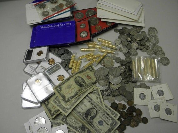 ESTATE LOT OF SILVER MINT SET// PROOF SETS //Bullion Silver COINS CURRENCY