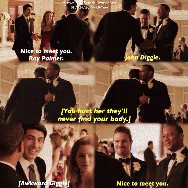 I love Diggle and Felicity's brother sister relationship!
