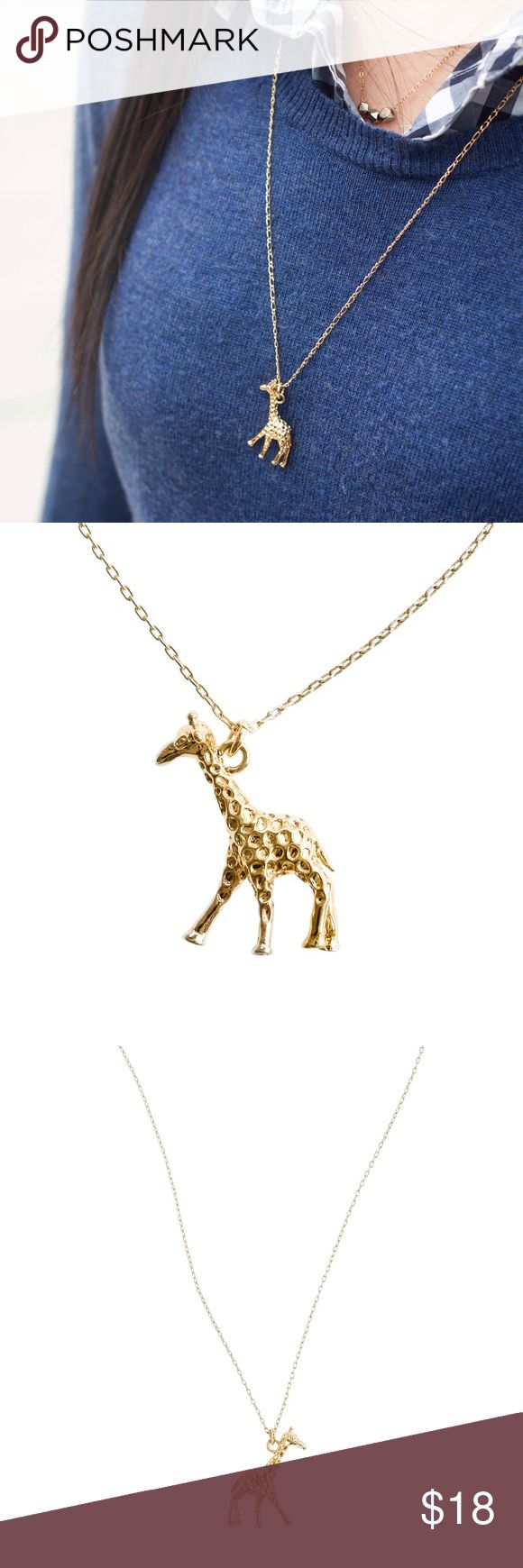 """J.Crew Giraffe Charm Necklace Necklace is in perfect condition and only worn once. Length including giraffe is about 14"""". Total chain length is 26"""". This necklace length is not adjustable. J. Crew Jewelry Necklaces"""
