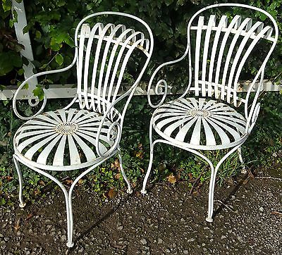Very Rare Pair of Francois Carre French Garden Chairs. 97 best Carre    In the style of Francois Carre Sunburt