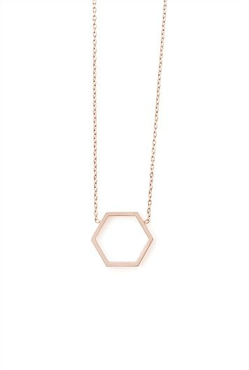Geometric Hexagon Necklace - Country Road
