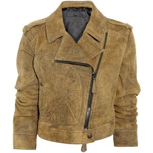 Burberry Prorsum Distressed suede biker jacket