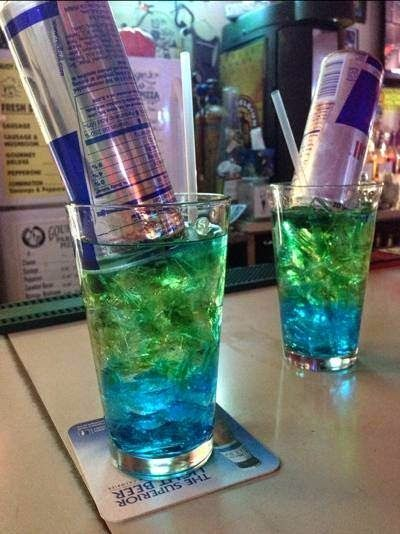 Blue Red Bull Mixed Drink