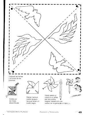 God sends help, the Holy Spirit, pinwheel craft