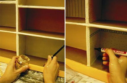 Casita de muñecas con cajas de zapatos / Dollhouse with shoe boxes   La Factoría Plástica