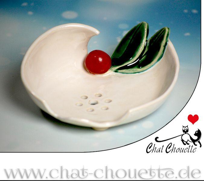AugusTino - Seifenschale aus Keramik von Chat Chouette auf DaWanda.com