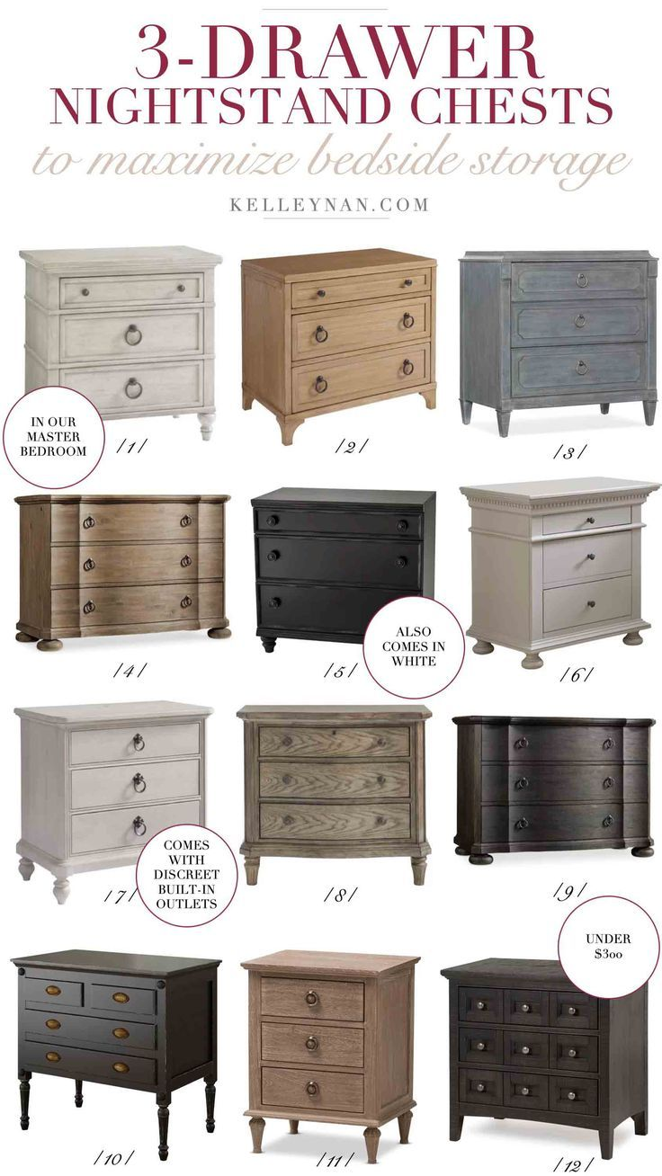 4 Steps To An Organized Nightstand Before After Kelley Nan Three Drawer Nightstand Bedroom Night Stands Nightstand Storage