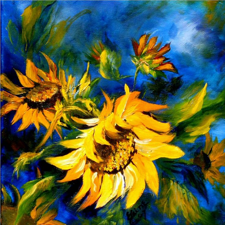 "Sunflowers in ""blue"""