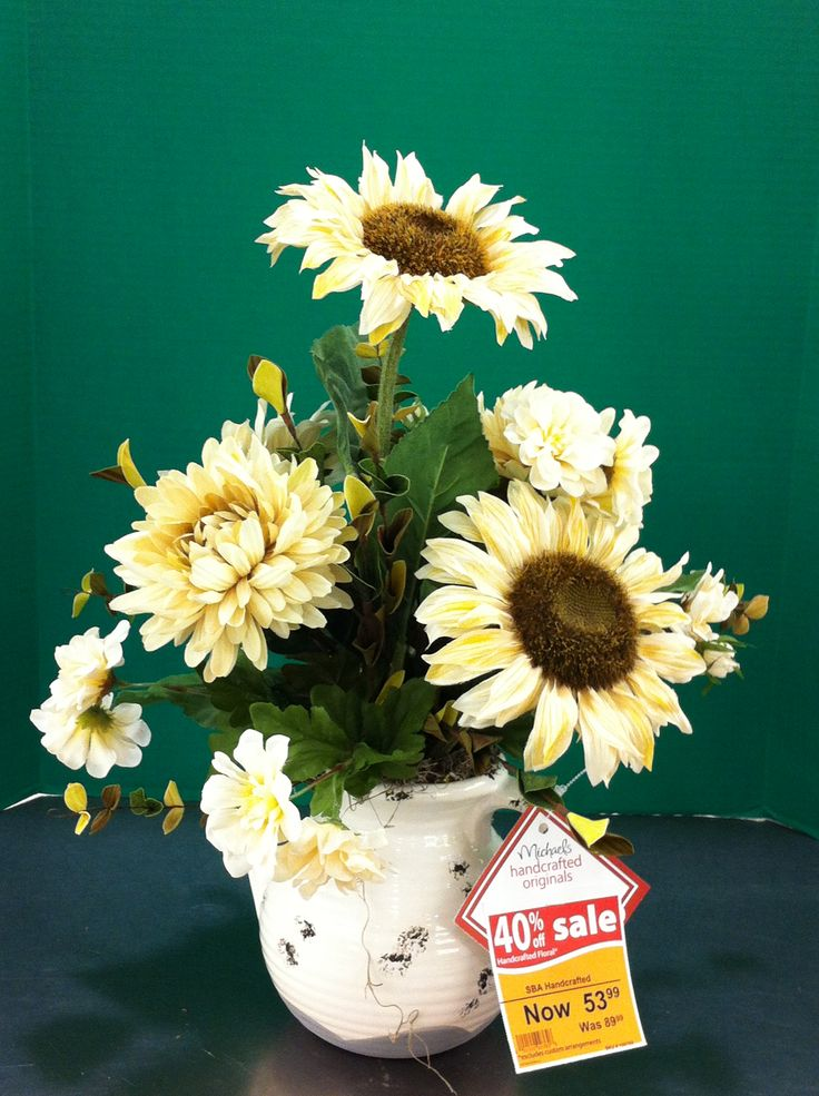 Neutral with cream sunflowers. 2013. Laura A. Tulsa. (3864)