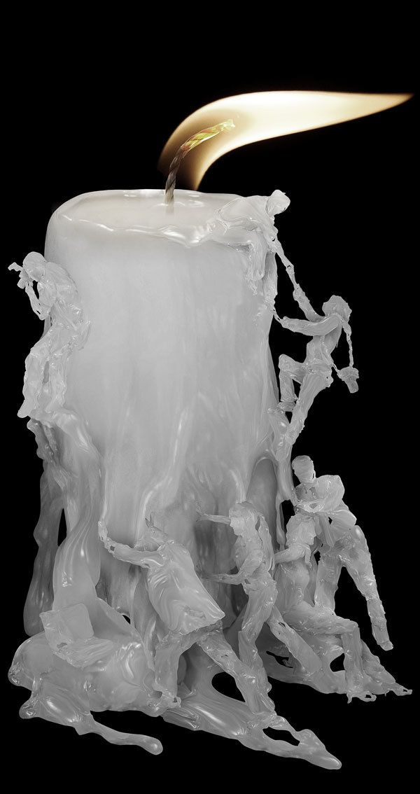 Remarkable, Intricate Sculptures Made from Candle Wax by Indonesian artist Ferdi Rizkiyanto This artist is literally creating a sculpture out of a lit candle. So impressive!