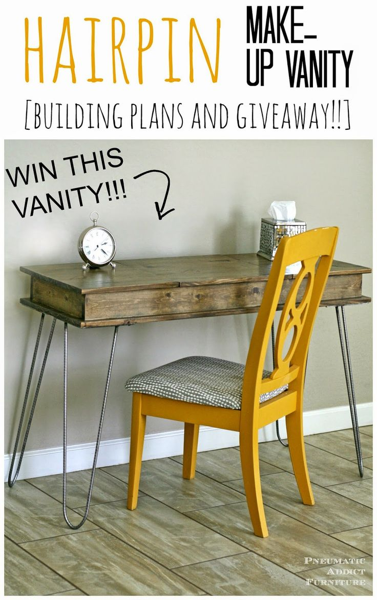 Makeup vanity woodworking plans woodworking projects plans for Makeup vanity plans