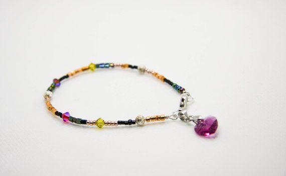 #tiffydesigns #bohochic #jewelry #beaded #beaded bracelet #charm bracelet #crystal bracelet #valentines #valentinesjewelry