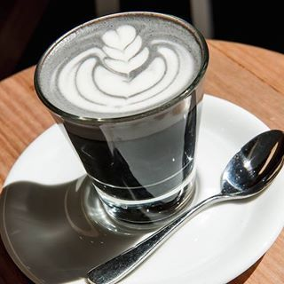 To think Melbourne has found ANOTHER cool coloured coffee to make...Come into @whitemojoto try their Black Latté, and feel a little bit naughty as you sip on this devilishly healthy drink made of black sesame seeds, peanut, almond and soy. #urbanlisted #coffeeevolution #melbourne