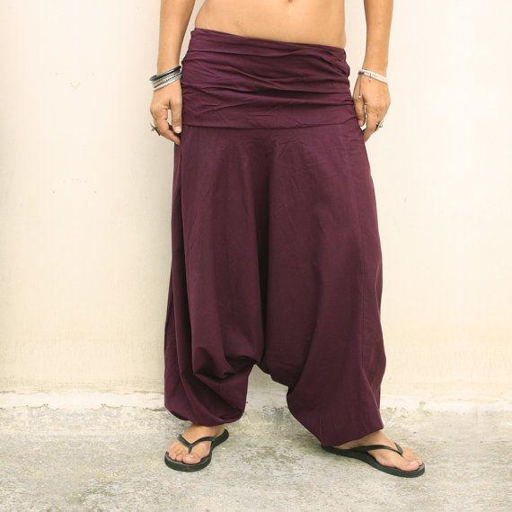 pantaloni stile indiano donna bordeaux di KarmalieHotCouture