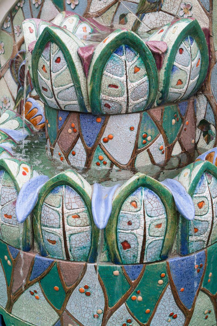 """Арт-керамика Владимира Ковалева. Архитектурный декор """"Птицы"""". Фонтан. Фрагмент."""
